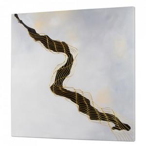 Tablou multicolor din lemn de pin 100x100 cm Abstracto Santiago Pons
