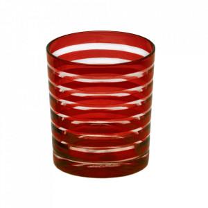 Set 4 pahare rosii din sticla Nelson Edzard