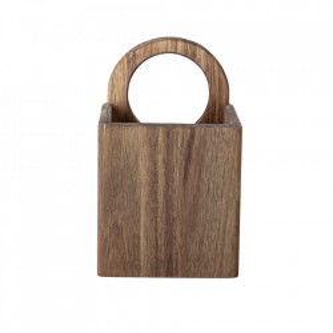Cutie maro din lemn de salcam pentru ustensile Fanda Bloomingville