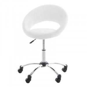 Scaun birou alb/argintiu din metal si poliuretan Plump Actona Company