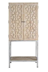 Dulap maro din lemn si metal 182 cm Oliet Giner y Colomer