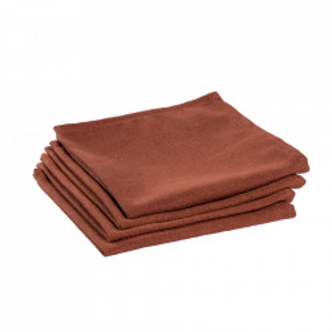 Set 4 protectii masa patrate maro din textil 40x40 cm Samay La Forma