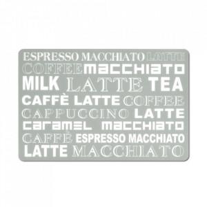 Protectie masa dreptunghiulara gri/alba din plastic 28,5x43,5 cm Latte Macchiato Zeller