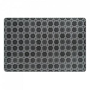 Protectie masa dreptunghiulara neagra din polipropilena 28,5x43,5 cm Flowers Zeller
