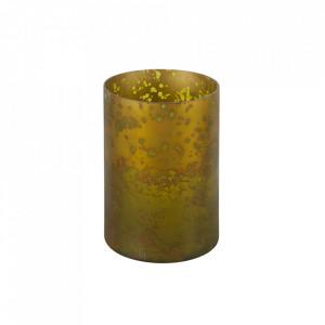 Suport lumanare maro alama din sticla 25 cm Stardust Be Pure Home