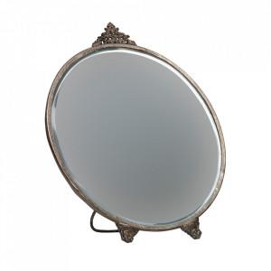 Oglinda argintie din metal de masa 22x26 cm Posh Be Pure Home
