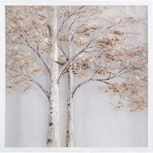 Tablou multicolor din canvas si lemn 80x80 cm Alder Ter Halle