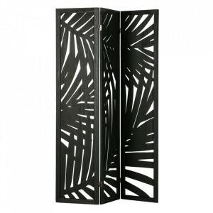 Separator camera negru din lemn de paulownia si MDF 170 cm Harper Woood