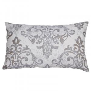 Perna decorativa dreptunghiulara alb/gri din bumbac 30x50 cm Amanda Santiago Pons