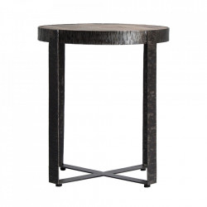 Masuta maro/neagra din fier si lemn 53 cm Gaffney Vical Home