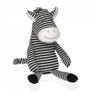 Opritor usa alb/negru din textil Zebra Versa Home