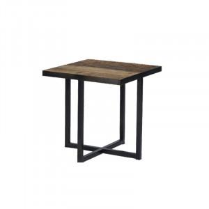 Masuta din metal si lemn pentru cafea 40x40 cm Bilbao Lifestyle Home Collection