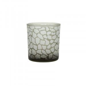Suport maro din sticla pentru lumanare 8 cm Jafari Lifestyle Home Collection