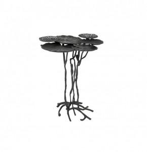 Masuta neagra din aluminiu 57x60 cm Lily Multi Black White Label