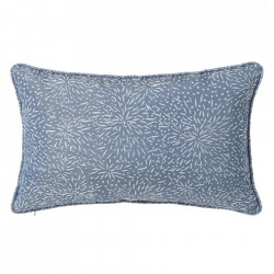Perna decorativa dreptunghiulara albastra din poliester 33x50 cm Loving Unimasa