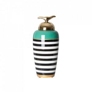 Recipient cu capac multicolor din ceramica 16x38 cm Sasha Vical Home