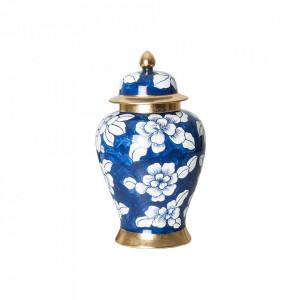 Recipient cu capac multicolor din ceramica 25x40 cm Miliana Vical Home