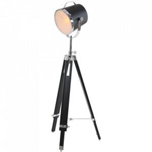 Lampadar negru/argintiu din metal 146 cm Triangle Steinhauer
