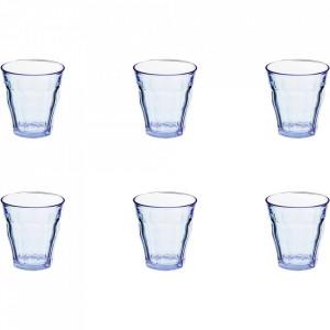 Set 6 pahare albastre din sticla 220 ml Picardie Duralex