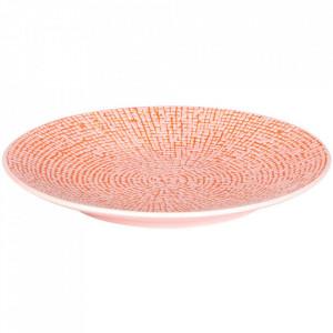 Farfurie intinsa roz din ceramica 16 cm Cubical Palmer