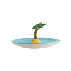 Decoratiune multicolora din ceramica 7,5 cm Palm Tree Zangra