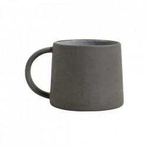 Cana neagra/alba din ceramica 8x9 cm Henrietta Nordal