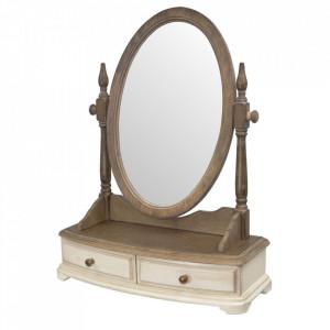 Oglinda cu sertare din lemn de arbore de cauciuc 49x64 cm Limena Livin Hill
