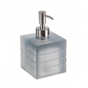 Dispenser sapun lichid gri din polirasina 8,3x13,5 cm Cube Bizzotto