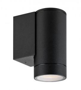 Spot negru din metal si sticla pentru exterior Pipe Markslojd
