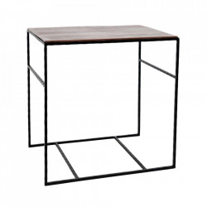 Masuta maro/neagra din aluminiu si lemn 41x56 cm Selective Avola Livin Hill