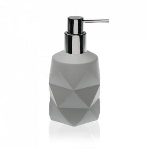 Dispenser sapun lichid gri din rasina 8x17 cm Elina Versa Home