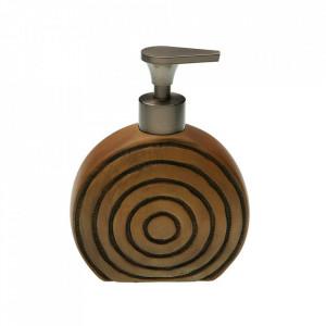 Dispenser sapun lichid maro din ceramica 13x16,5 cm Roound Versa Home