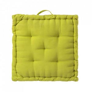 Perna patrata verde din poliester si bumbac pentru sezut 45x45 cm Loving Colours Unimasa