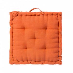 Perna patrata portocalie din poliester si bumbac pentru sezut 45x45 cm Loving Colours Unimasa