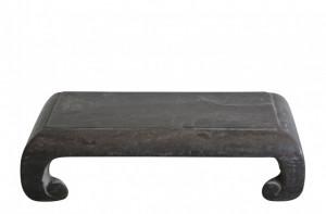 Masa cafea din piatra neagra 50x30cm Stone Pedestal Versmissen