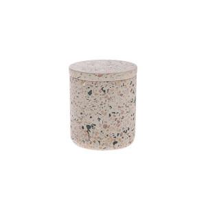 Cutie cu capac crem din ciment Terazzo S HK Living