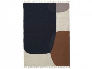 Covor multicolor din lana si bumbac 160x250 cm Kelim Murge Ferm Living