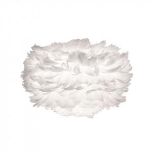 Abajur alb din pene si otel Eos Mini White Umage