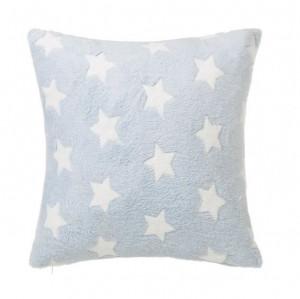 Perna decorativa patrata albastra pentru copii din poliester 45x45 cm Star Unimasa