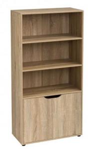 Biblioteca maro din MDF 119 cm Kristy Unimasa