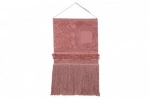 Decoratiune perete roz din bumbac 50x85 cm Earth Canyon Rose Lorena Canals