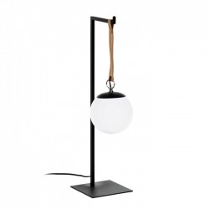 Veioza neagra din metal si sticla 60 cm Monteiro La Forma