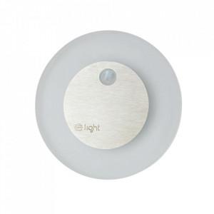 Aplica alba/argintie din aluminiu si plastic Treve M Milagro Lighting