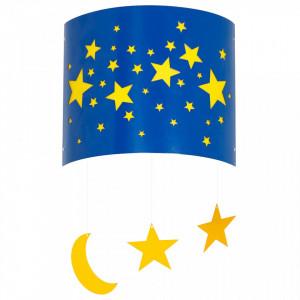 Aplica albastra din metal si plastic Stars Wall Aldex