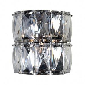 Aplica argintie din cristal si fier cu 3 becuri Auden Richmond Interiors