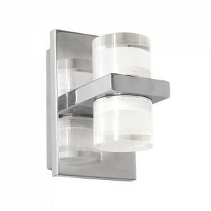 Aplica argintie din metal si acril Aqua Duo Milagro Lighting