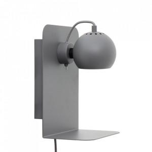 Aplica gri deschis din metal Ball USB Frandsen Lighting
