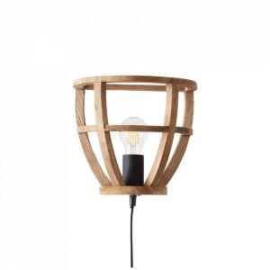 Aplica neagra/maro din metal si lemn Matrix Brilliant