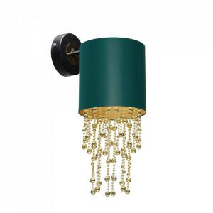 Aplica verde/aurie din metal si textil Almeria Milagro Lighting