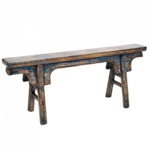 Bancheta multicolora din lemn de ulm 113 cm Vecchio Santiago Pons